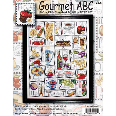 Tobin Gourmet ABC Counted Cross Stitch Kit