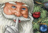 Dimensions Gold Collection Petite Santas Secret Counted Cross Stitch Kit