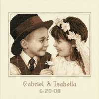 Dimensions First Love Wedding Record Counted Cross Stitch Kit