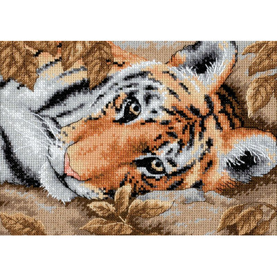 Dimensions Gold Collection Petite Beguiling Tiger Counted Cross Stitch Kit