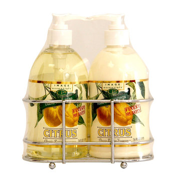 Image Essentials Citrus Liquid Soap & Lotion Wire Rack Set Classic Lemon 16 Ounce Bottles - KMART CORPORATION