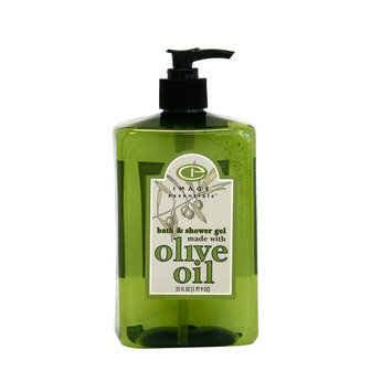 Image Essentials Olive Oil Bath & Shower Gel Lime Blossom Basil Fragrance 25 Ounce Green Bottle - KMART CORPORATION