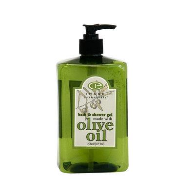 Image Essentials Olive Oil Bath & Shower Gel Lime Blossom Basil Fragrance 25 Ounce Green Bottle - KMART CORPORATION