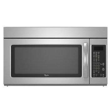 Whirlpool WMH1163XVS 1 000 Watt Over-the-Range Microwave with 2 Speed 220 CFM Exhaust Fan Auto Cook Defrost and Reheat Cycles and Filter Change Indicator Stainless