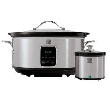 Kenmore 7 Qt. Stainless Steel Slow Cooker with Dipper