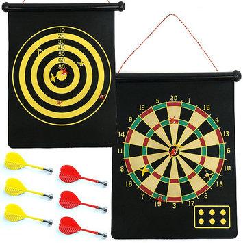 Trademark Magnetic Roll-up Dart Board and Bullseye Game w/ Darts