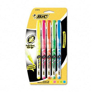 Kmart.com Brite Liner + Highlighter, Chisel Tip, 5 Color Set