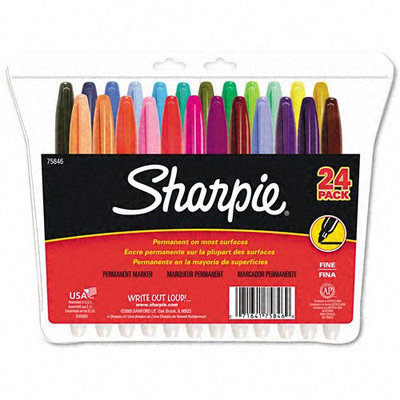 Kmart.com Sharpie Permanent Markers, Fine Point, Assorted, 24/pack