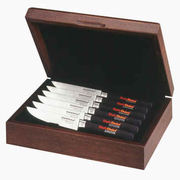 Chef's Choice 6 pc. Trizor Cutlery Presentation Hardwood Box Set Steak Knives - EDGECRAFT CORPORATION
