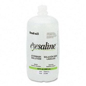 Sperian Eye Wash Saline Solution Bottle Refill, 32-oz