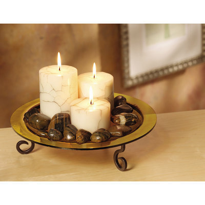 San Miguel Saratoga 11x6-Inch Candle Garden Rustic