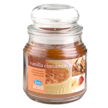 Langley Home Vanilla Cinnamon Brulee Scented 15 oz. Jar Candle - LANGLEY PRODUCTS L.L.C.
