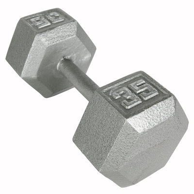 Weider 35 lb. Hex Dumbbell