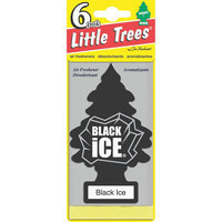 Car Freshner Little Trees Black Ice Air Freshener 6-Pack
