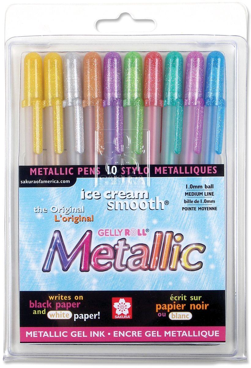 Alvin & Company Sakura 57370 Gelly Roll Metallic Medium Point Pens 10/Pkg