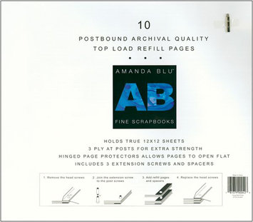 Amanda Blu 12x12 Postbound Page Protectors - 10 Pack