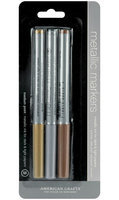 American Crafts M62262 Metallic Markers Medium Point