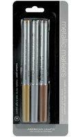 American Crafts M62262 Metallic Markers Medium Point