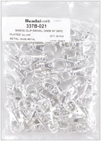 Silver-Plated Badge Clips with Swivel, 36-Pack