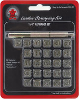 Leather Factory Easy-To-Do 0.25-Inch Alphabet Stamp Set