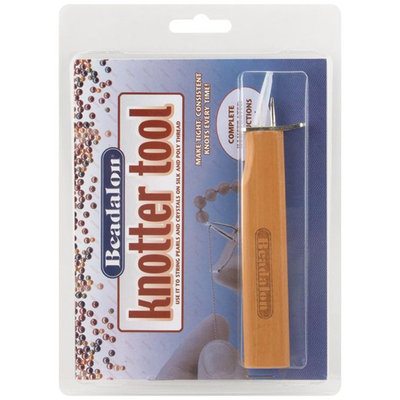 Beadalon KNOTTER Knotter Tool with Wood Handle