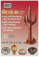Amaco Mexican Self-Hardening Clay, 5 Pounds, Red