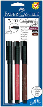 FABER-CASTELL Red Blk Se-Calligraphy Pen 2mm