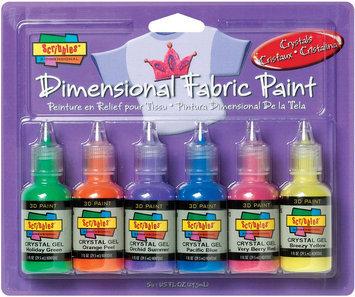 Duncan Crafts Duncan 359457 Scribbles Dimensional Fabric Paint 1 Ounce 6-Pkg-Crystals