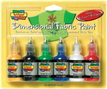 Duncan Crafts Duncan 359458 Scribbles Dimensional Fabric Paint 1 Ounce 6-Pkg-Shiny