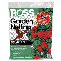 Eziba Ross Garden Netting, 14-feet x 75-feet, Diamond