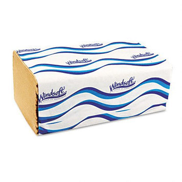 Windsoft 1-Fold Paper Towels, 9-3/8 x 10-1/2, Natural, 250