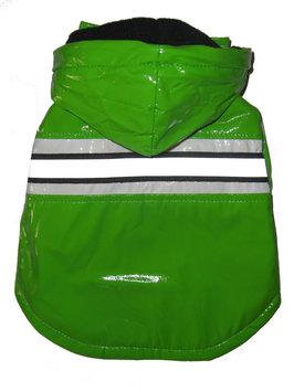 Pet Life Llc Pet Life Lime Green Reflecta-Glow Dog Raincoat
