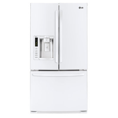 LG White French Door Bottom Freezer Refrigerator - LFX25974SW