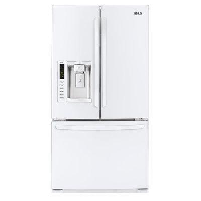 LG White French Door Bottom Freezer Refrigerator - LFX25974SW