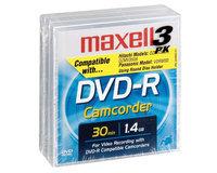 Maxell DVD-R Blank Media for Camcorder, 3 pk.