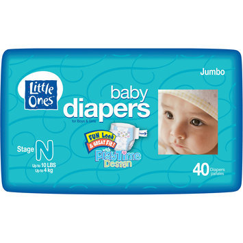 Icd Industries Inc. Baby Diapers For Boys & Girls, Size 0 (0-10 lb), Fun Look & Great Fit! With Playtime Design, Jumbo, 40 diapers