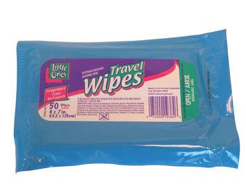 Little Ones Travel Wipes 50 Count Plastic Bag - KMART CORPORATION