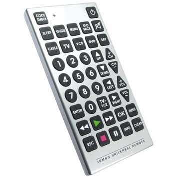 Test Rite International Company Ltd. Jumbo Remote Control, Silver