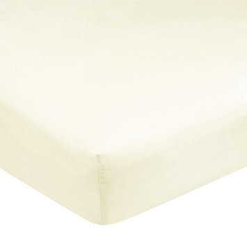 Carter's Easy-Fit Sateen Crib Fitted Sheet-Ecru