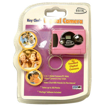 Digital Concepts Digital Camera Keychain Pink - SAKAR INTERNATIONAL, INC.