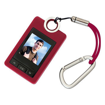 Coby Rubberized Digital Photo Keychain (Red)