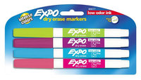 Eberhard Faber Dry-erase Markers, Fine Point, Nontoxic, 4/PK, Assorted