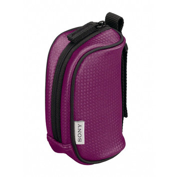 Sony Webbie HD Camcorder Case - Polyurethane, Nylon - Violet LCS-CMA/V