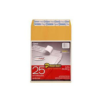 Mead Press It Seal It Envelopes 9 X 12 25ct - MEAD PRODUCTS