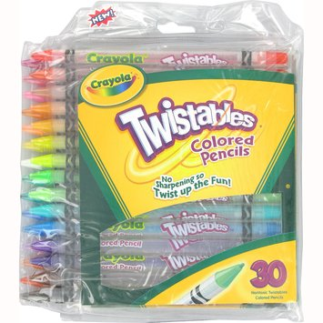 Crayola Twistables Colored Pencils - Pack of 30 - Assorted Colors