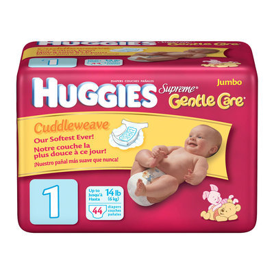 Huggies® Supreme Diapers Baby-Shaped