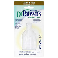 Dr Brown's Dr. Brown's Natural Flow Silicone Nipples, Replacement, Level Three, Standard, 3 nipples - HANDI-CRAFT COMPANY