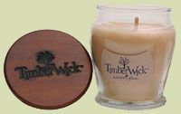 Hanna's Candles Hanna's 9.25 Oz Timberwick Vanilla Soy Jar Candle
