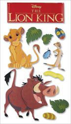 Sticko & Jolee's Jolees Disney Le Grande Dimensional Sticker-The Lion King