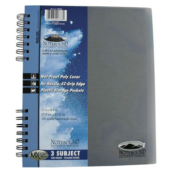Carolina Pad & Paper Company Notebook, 3 Subject, College Ruled, 1 notebook